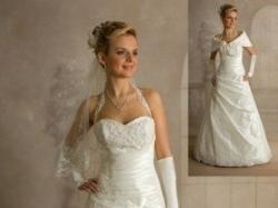 Elegancka suknia ślubna Visual Chris 2009 - rozm.38