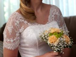 Elegancka suknia ślubna z włoskiej koronki!!!
