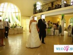 Elegancka , szykowna suknia ślubna w kolorze ecru  rozmiar 38