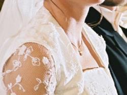 Elegancka trzyczęściowa suknia ślubna