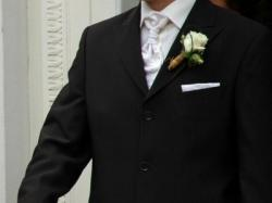Elegancki garnitur ślubny WILVORST na ok. 180cm wzrostu