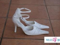 eleganckie białe buty ślubne rozm. 36