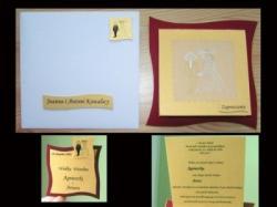 Eleganckie zaproszenia ślubne, winietki zawieszki na slub i wesele dyplomy inne
