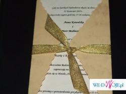 Eleganckie zaproszenia, zawieszki, podziekowania ręcznie robione
