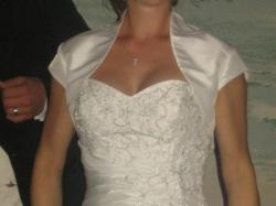 Fantastyczna suknia slubna AMELIE koloru ivory,rozm. 36 +dodatki
