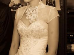 Fantastyczna suknia ślubna dla Wysokiej Panny Młodej :)