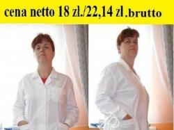 Fartuchy laboratoryjne damskie i męskie cena 18 zł. netto