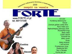 FORTE zespół muzyczny na wesele Grudziądz, Kwidzyn, Toruń