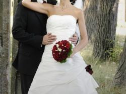 Francuska Suknia ślubna NOCE-D-AMBRE halka gratis