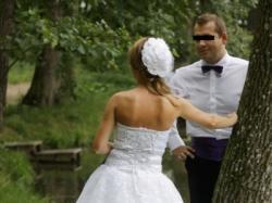 Francuska suknia ślubna szyta na zamówienie- SPRZEDAM