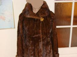 Futro płaszcz Royal Saga Mink damskie z naturalnych długich norek r. L 40-42