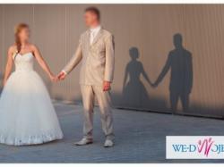 Garnitur ślubny w kolorze szampańskim firmy Wilvorst