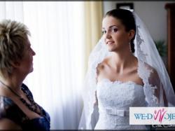 Hiszpańska koronka White One 176 przepiękna Suknia Ślubna
