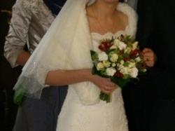 hiszpanska,koronkowa,zwiewna sukienka r.38 Pronovias