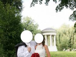 Hiszpańska suknia ślubna gorset falbanki kryształki koronka r.38