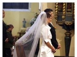 Hiszpańska suknia ślubna Herms