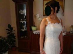 Hiszpańska suknia ślubna - Lugonovias 8104