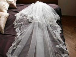 hiszpański, długi welon idealny do sukni PRONOVIAS