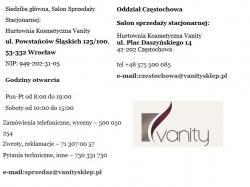 Hurtownia Kosmetyczna Vanity Wrocław, Częstochowa