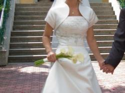 Jednoczęściowa suknia ecru
