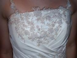 Jednoczęściowa suknia ślubna + DODATKI GRATIS