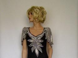 Jedwabna Sukienka Wieczorowa Balowa Wesele Vintage Suknie