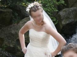 Jedwabna suknia jednoczęściowa ecru za 1200zl!