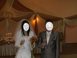 Jedwabna suknia ślubna + dodatki