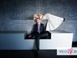 Jedwabna suknia ślubna Madonna rozm.34