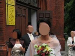 """jedwabna suknia ślubna szyta na wzór sukni """"Olga"""" Pronovias"""
