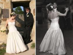 Jedwabna suknia ślubna Tara Keely New York
