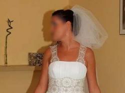jedwabna suknia slubna z kryształkami swarovskiego