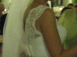 Jedwano-koronkowa suknia ślubna, model Sally