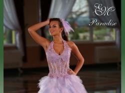 Jedyna lawendowa suknia ślubna