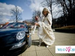 Jedyna, niepowtarzalnie bajeczna suknia ślubna z kamieniami Swarovskiego!!!