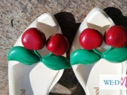 JEDYNE ORYGINALNE ! białe szpilki Vivienne Westwood MELISSA CHERRY 38