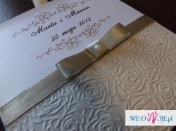 Jedynie i niepowtarzalne ręcznie robione zaproszenia ślubne - sprawdź!