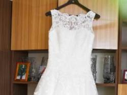 Justin alexander  8630 suknia ślubna koronka