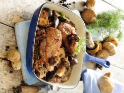 Kaczka z pieprzem i grzybami