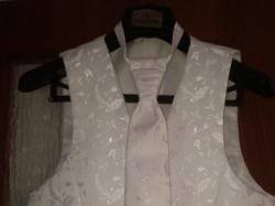Kamizelka biała krawat rozm. 50