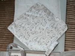 kamizelka i fular w kolorze srebra