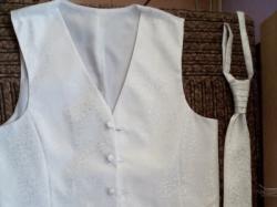 kamizelka ślubna biała XL