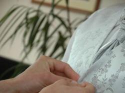 Kamizelka ślubna firmy NEW MEN w kolorze srebrnym z haftami błyszczącą nitką!