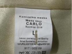 kamizelka ślubna firmy Sunset Suits + musznik + butonierka model CARLO