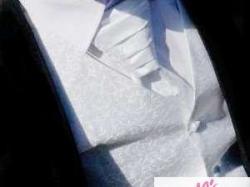 Kamizelka ślubna z krawatem i butonierką + spinki do mankietów