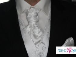 Kamizelka ślubna z musznikiem i butonierką