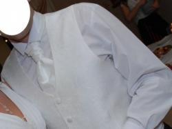 Kamizelka z musznikiem, białe