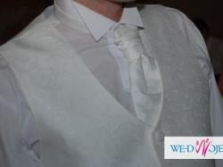 Kamizelka z musznikiem i butonierką+koszula gratis