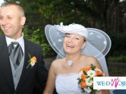 kapelusz Slubny biały