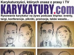 Karykatury.com - karzykaturzysta rysujący karykatury na żywo